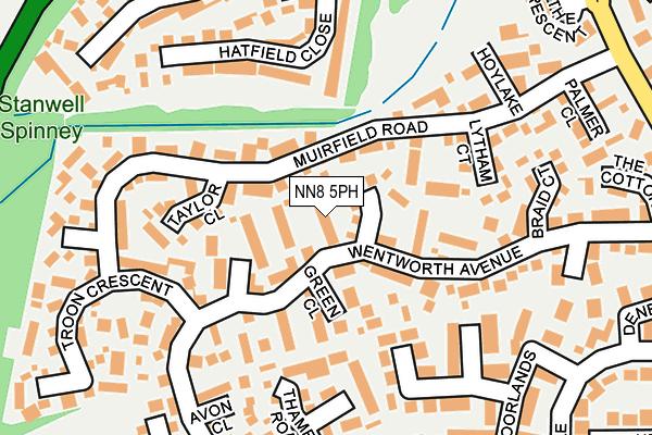 NN8 5PH map - OS OpenMap – Local (Ordnance Survey)