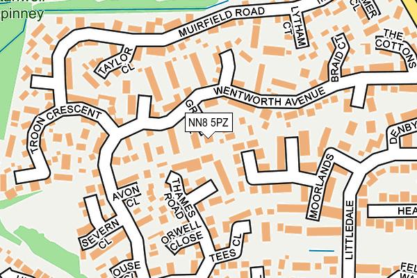 NN8 5PZ map - OS OpenMap – Local (Ordnance Survey)