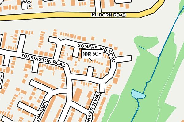 NN8 5QF map - OS OpenMap – Local (Ordnance Survey)