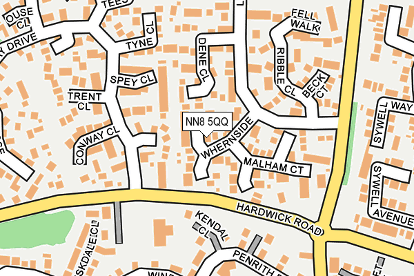 NN8 5QQ map - OS OpenMap – Local (Ordnance Survey)