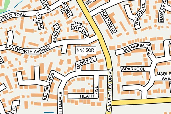 NN8 5QR map - OS OpenMap – Local (Ordnance Survey)