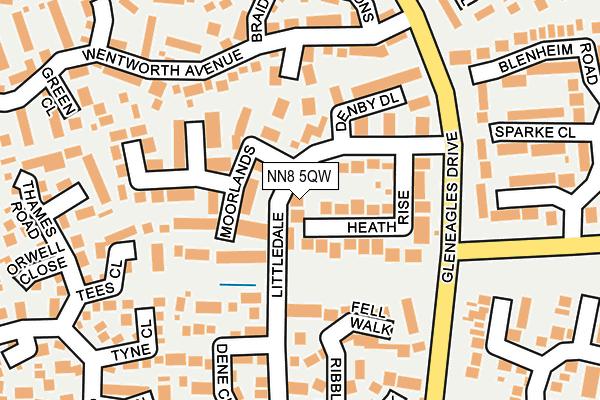 NN8 5QW map - OS OpenMap – Local (Ordnance Survey)