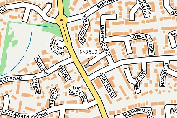 NN8 5UD map - OS OpenMap – Local (Ordnance Survey)