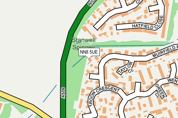 NN8 5UE map - OS OpenMap – Local (Ordnance Survey)
