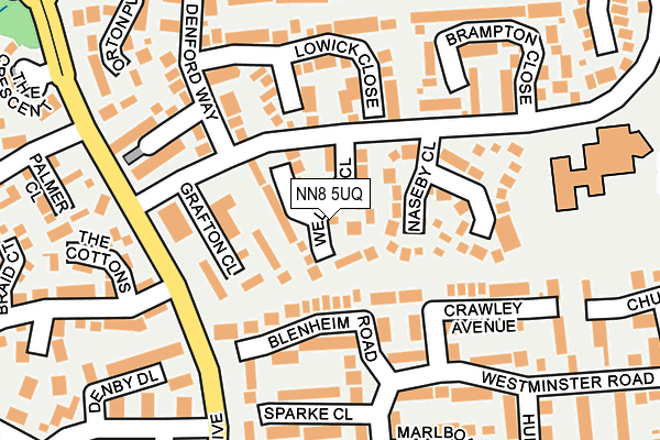 NN8 5UQ map - OS OpenMap – Local (Ordnance Survey)