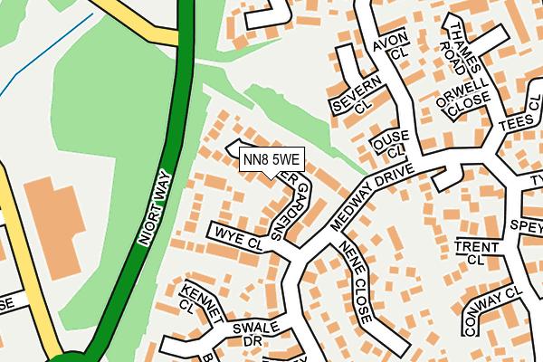 NN8 5WE map - OS OpenMap – Local (Ordnance Survey)