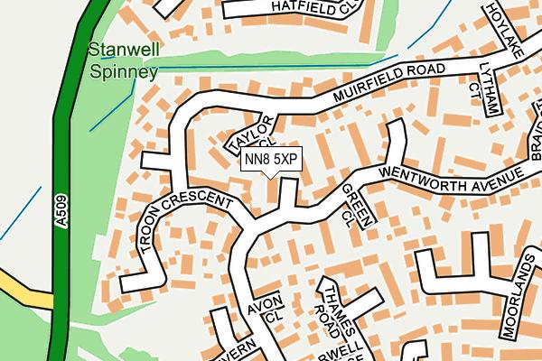 NN8 5XP map - OS OpenMap – Local (Ordnance Survey)