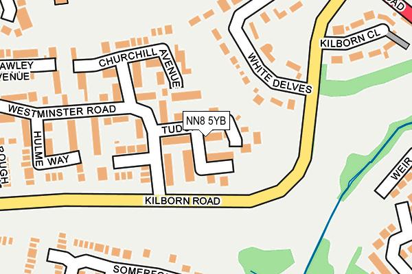 NN8 5YB map - OS OpenMap – Local (Ordnance Survey)