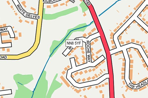 NN8 5YF map - OS OpenMap – Local (Ordnance Survey)