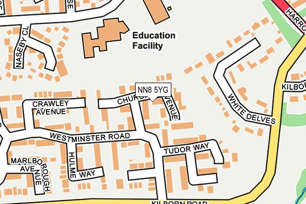 NN8 5YG map - OS OpenMap – Local (Ordnance Survey)