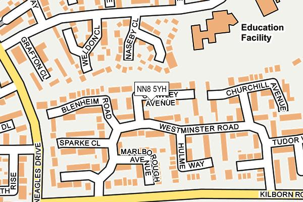 NN8 5YH map - OS OpenMap – Local (Ordnance Survey)