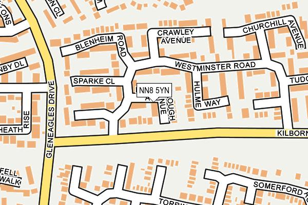 NN8 5YN map - OS OpenMap – Local (Ordnance Survey)