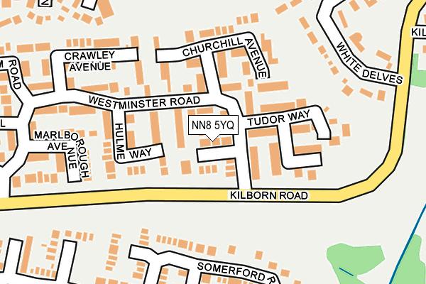 NN8 5YQ map - OS OpenMap – Local (Ordnance Survey)
