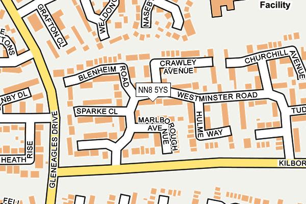 NN8 5YS map - OS OpenMap – Local (Ordnance Survey)
