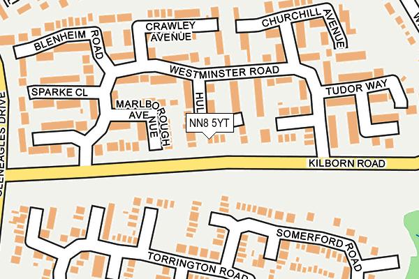 NN8 5YT map - OS OpenMap – Local (Ordnance Survey)