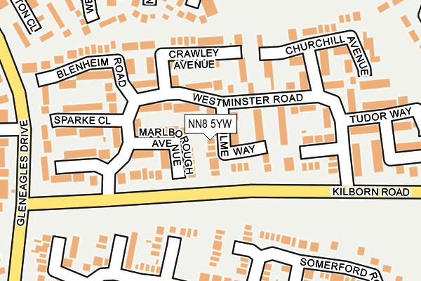 NN8 5YW map - OS OpenMap – Local (Ordnance Survey)