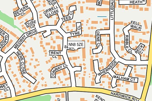 NN8 5ZE map - OS OpenMap – Local (Ordnance Survey)