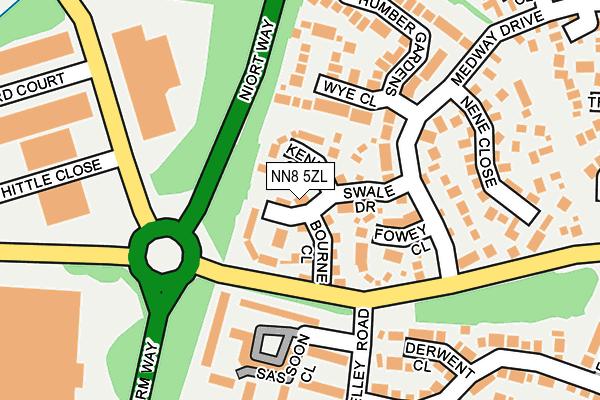NN8 5ZL map - OS OpenMap – Local (Ordnance Survey)