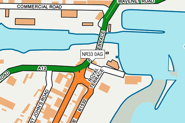NR33 0AG map - OS OpenMap – Local (Ordnance Survey)