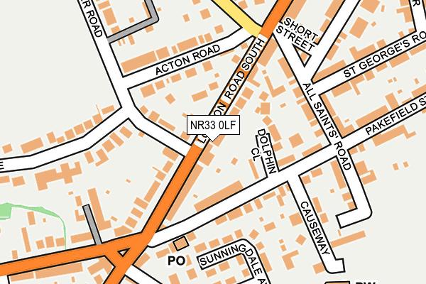 NR33 0LF map - OS OpenMap – Local (Ordnance Survey)