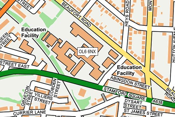 OL6 6NX map - OS OpenMap – Local (Ordnance Survey)