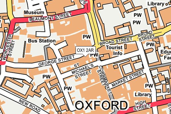 OX1 2AR map - OS OpenMap – Local (Ordnance Survey)