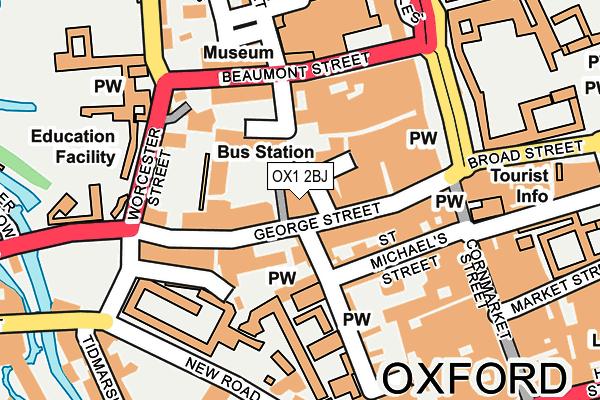OX1 2BJ map - OS OpenMap – Local (Ordnance Survey)