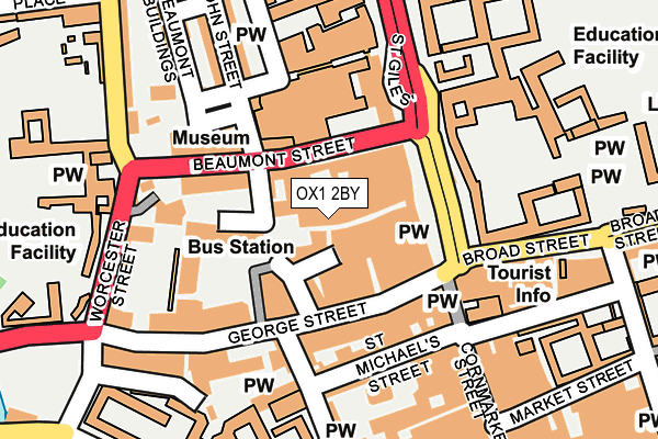 OX1 2BY map - OS OpenMap – Local (Ordnance Survey)
