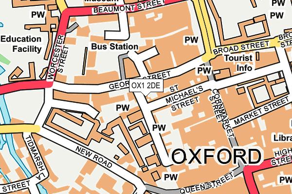 OX1 2DE map - OS OpenMap – Local (Ordnance Survey)