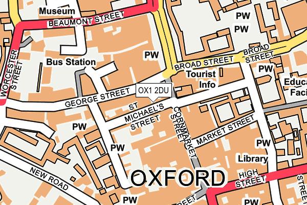 OX1 2DU map - OS OpenMap – Local (Ordnance Survey)