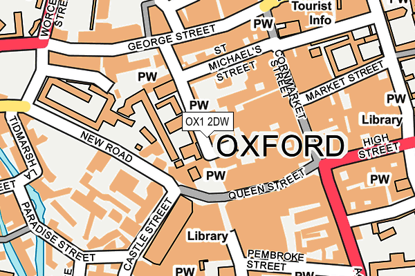 OX1 2DW map - OS OpenMap – Local (Ordnance Survey)