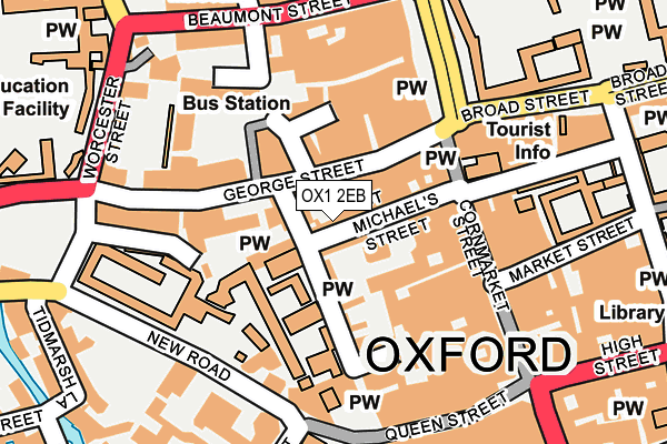 OX1 2EB map - OS OpenMap – Local (Ordnance Survey)