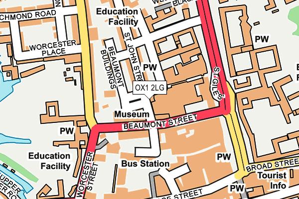 OX1 2LG map - OS OpenMap – Local (Ordnance Survey)