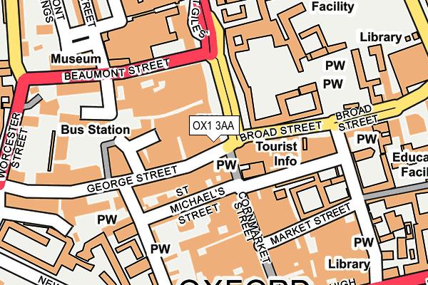 OX1 3AA map - OS OpenMap – Local (Ordnance Survey)