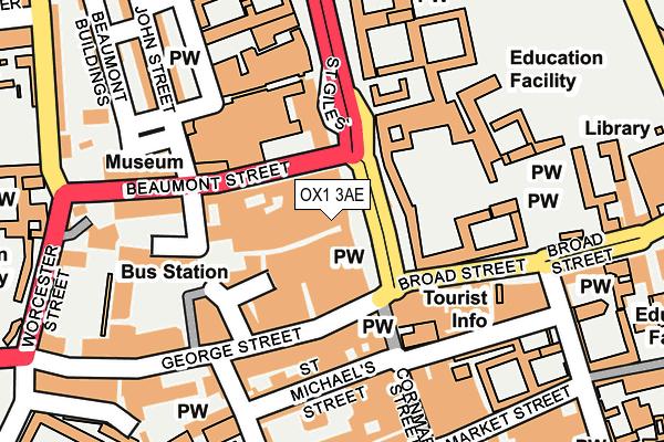 OX1 3AE map - OS OpenMap – Local (Ordnance Survey)