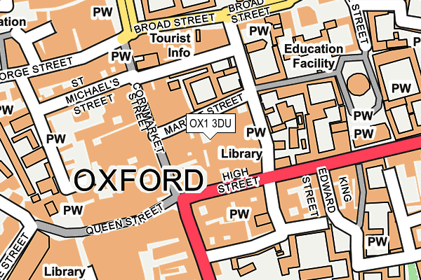 OX1 3DU map - OS OpenMap – Local (Ordnance Survey)