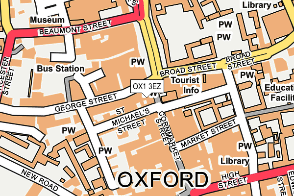 OX1 3EZ map - OS OpenMap – Local (Ordnance Survey)
