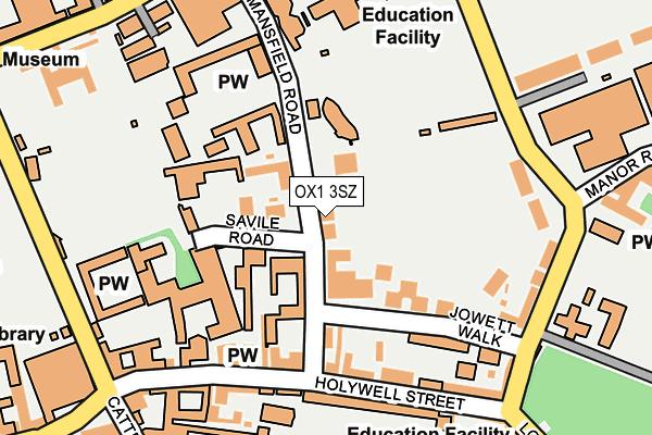 OX1 3SZ map - OS OpenMap – Local (Ordnance Survey)