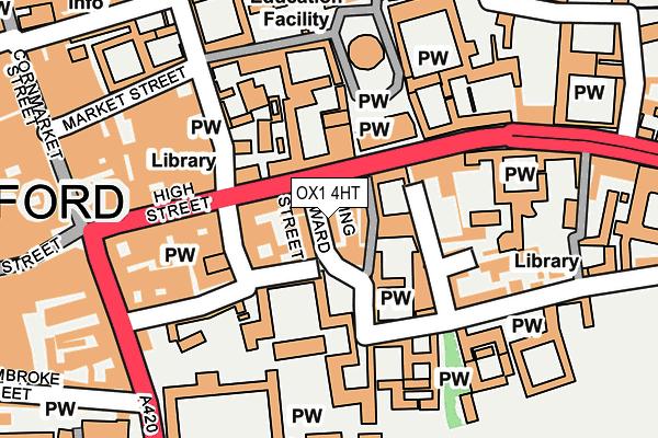 OX1 4HT map - OS OpenMap – Local (Ordnance Survey)