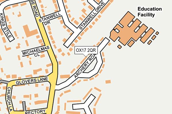 OX17 2QR map - OS OpenMap – Local (Ordnance Survey)