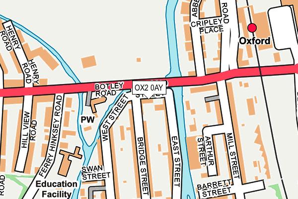OX2 0AY map - OS OpenMap – Local (Ordnance Survey)