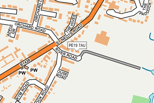 PE19 7AU map - OS OpenMap – Local (Ordnance Survey)
