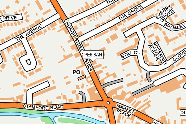 PE6 8AN map - OS OpenMap – Local (Ordnance Survey)