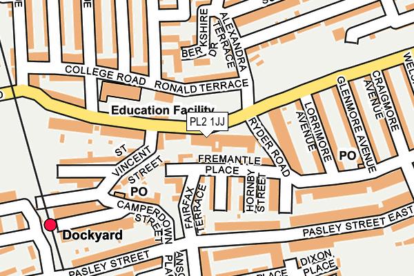 PL2 1JJ map - OS OpenMap – Local (Ordnance Survey)