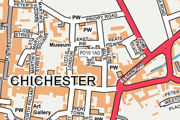 PO19 1AG map - OS OpenMap – Local (Ordnance Survey)