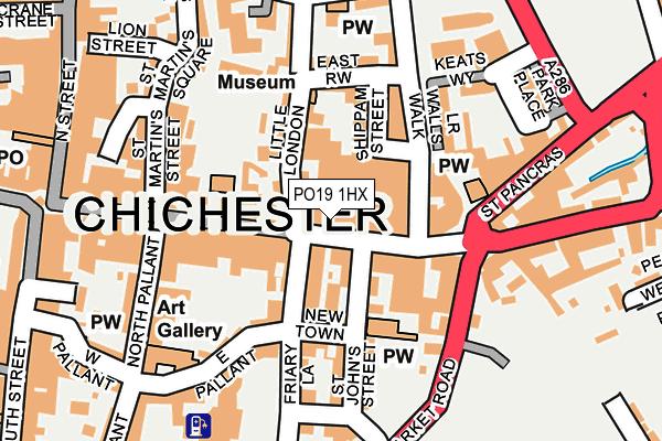 PO19 1HX map - OS OpenMap – Local (Ordnance Survey)