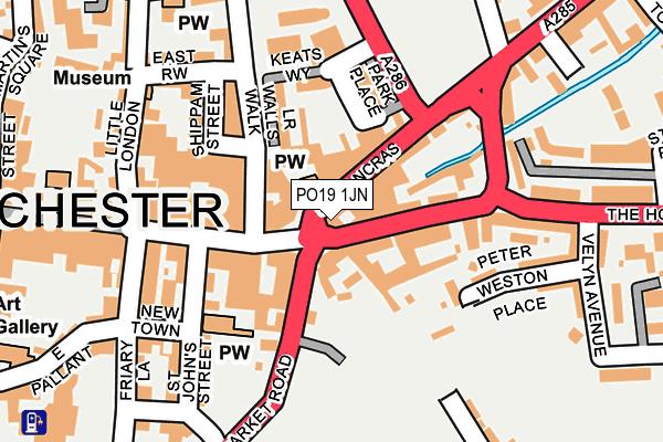 PO19 1JN map - OS OpenMap – Local (Ordnance Survey)