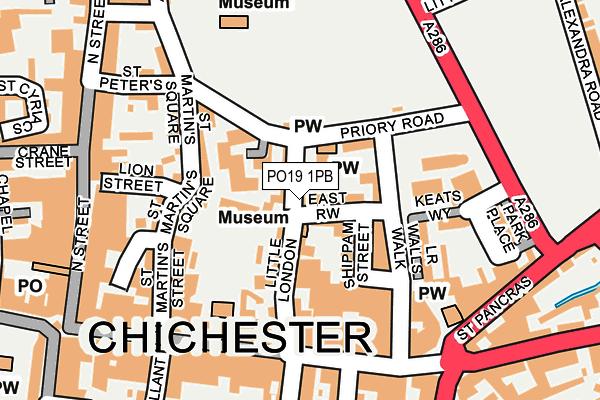 PO19 1PB map - OS OpenMap – Local (Ordnance Survey)