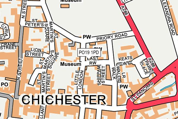 PO19 1PD map - OS OpenMap – Local (Ordnance Survey)