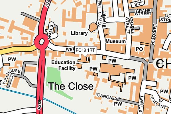 PO19 1RT map - OS OpenMap – Local (Ordnance Survey)